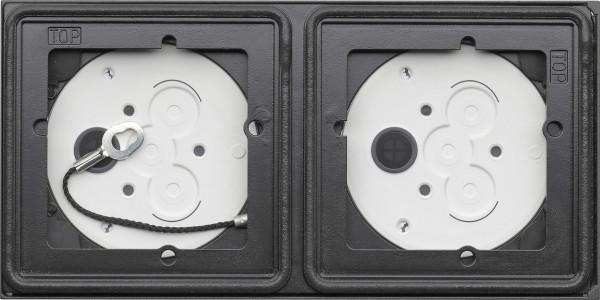 Gira System 106 Aufputz-Gehäuse 2fach - Anthrazit 5502910