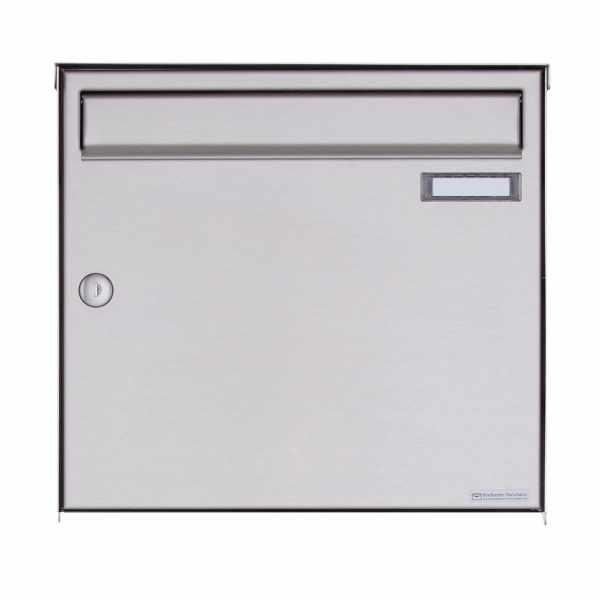1er Edelstahl Aufputz Briefkasten Design BASIC Plus 382XA AP - Edelstahl V2A geschliffen