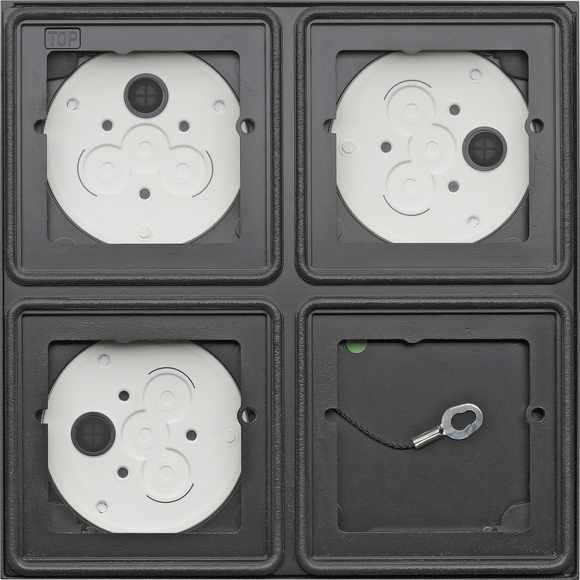 Gira System 106 Aufputz-Gehäuse 2x2fach - Anthrazit 5508910