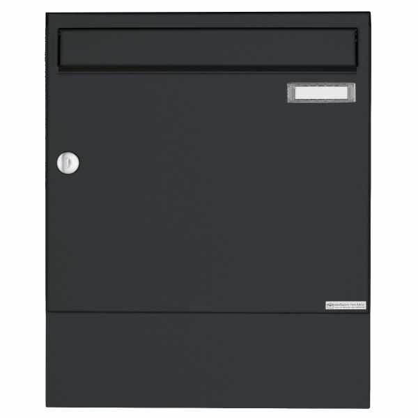 Aufputz Briefkasten Design BASIC 382A AP mit Zeitungsfach - RAL 7016 anthrazitgrau