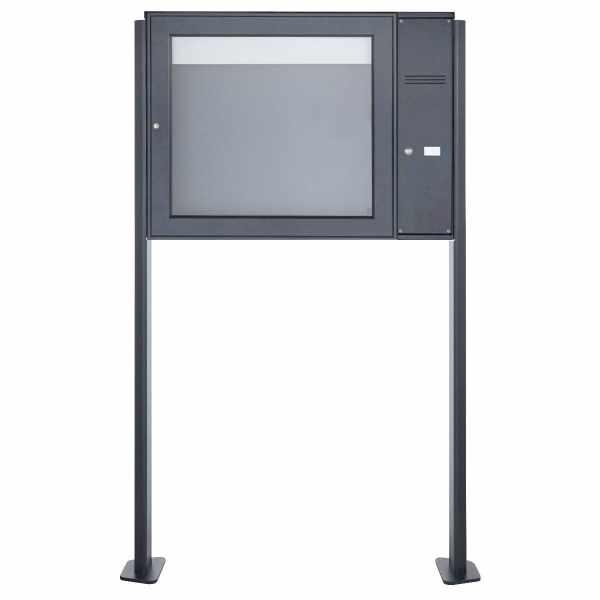 Schaukasten BASIC Plus 389X ST-T mit Klingelkasten - 710x660 - RAL nach Wahl