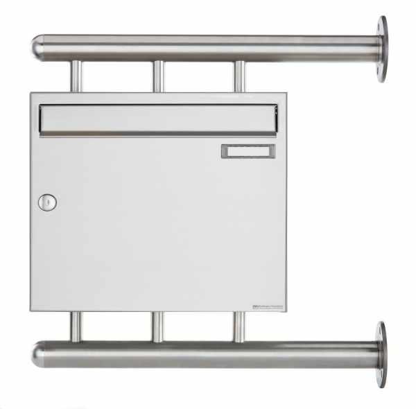 Edelstahl Briefkasten BASIC 810 W zur seitlichen Wandmontage