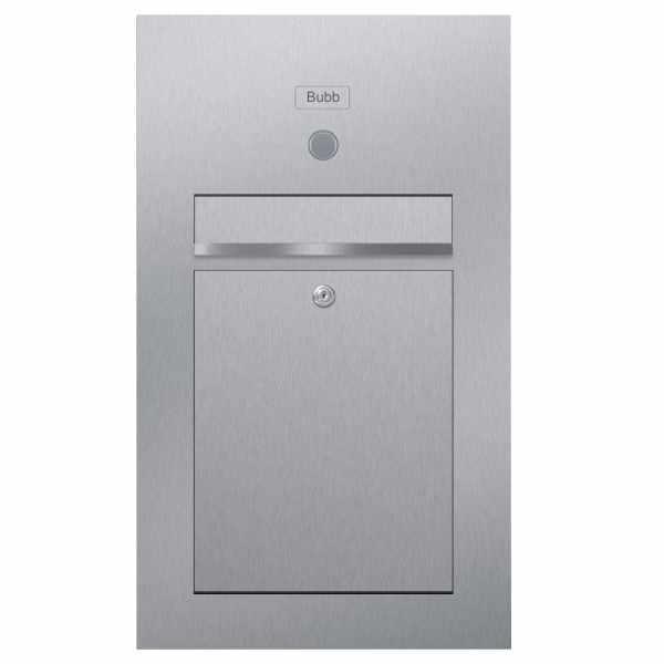 Edelstahl Briefkasten Designer Modell SMALL - Clean Edition - INDIVIDUELL