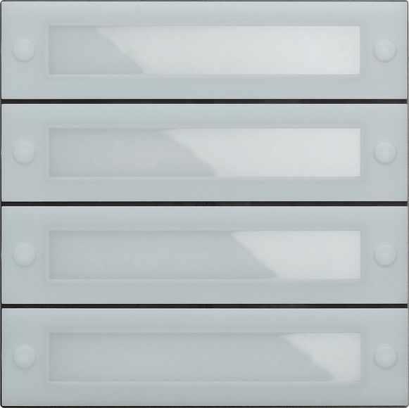 Gira System 106 Ruftastenmodul 4fach mit Inbetriebnahme-Tasten 5539000
