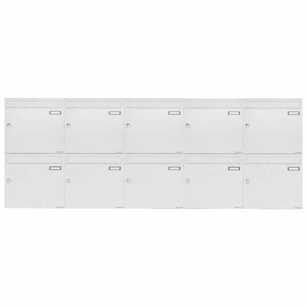 10er 2x5 Aufputz Briefkastenanlage Design BASIC 382A AP - RAL 9016 verkehrsweiß