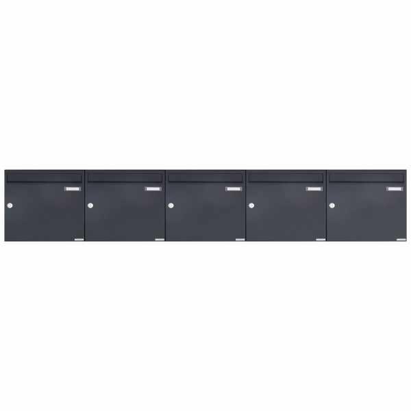5er 1x5 Aufputz Briefkasten Design BASIC 382A AP - RAL 7016 anthrazitgrau