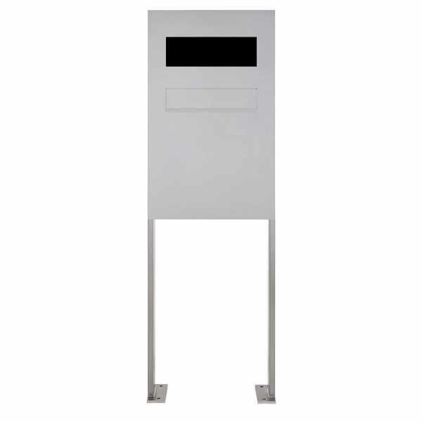 Edelstahl Zaunbriefkasten freistehend Designer Modell BIG ST-P - GIRA System 106 - 3fach vorbereitet