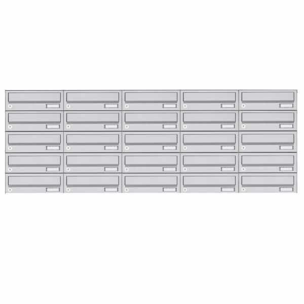 25er 5x5 Edelstahl Aufputz Briefkastenanlage Design BASIC 385XA AP - Edelstahl V2A
