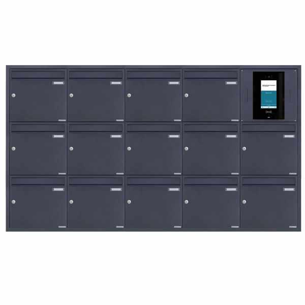 14er 5x3 Edelstahl Unterputzbriefkasten BASIC Plus 382XU UP - RAL - STR Digitale Türstation