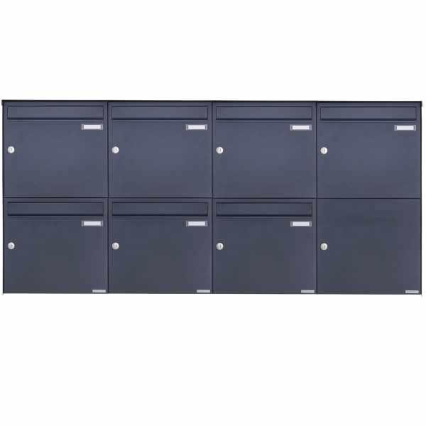 7er 2x4 Edelstahl Aufputz Briefkasten Design BASIC Plus 382XA AP - RAL nach Wahl