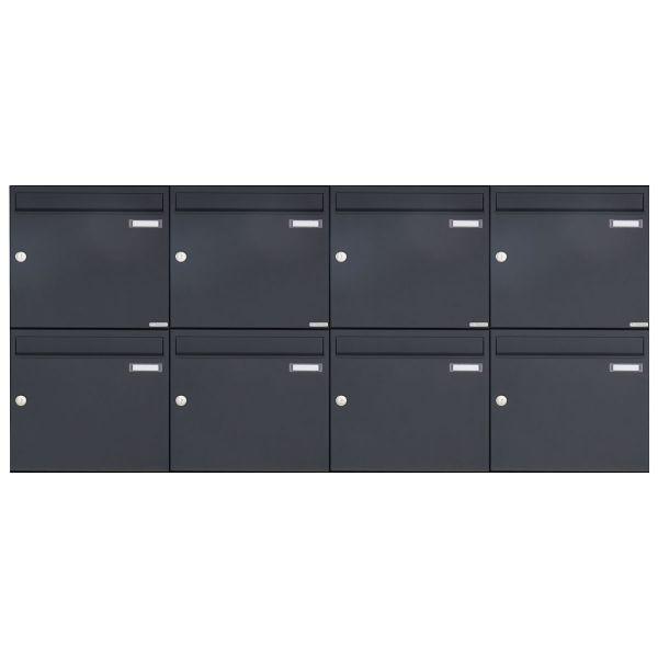 8er 2x4 Aufputz Briefkasten Design BASIC 382A AP - RAL 7016 anthratzitgrau