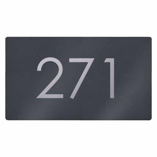Edelstahl Hausnummer Schild Elegance 423A 395x225 - RAL nach Wahl