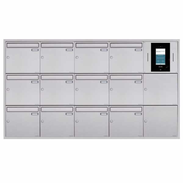 12er 5x3 Unterputzbriefkasten BASIC Plus 382XU UP - Edelstahl geschliffen - STR Digitale Türstation