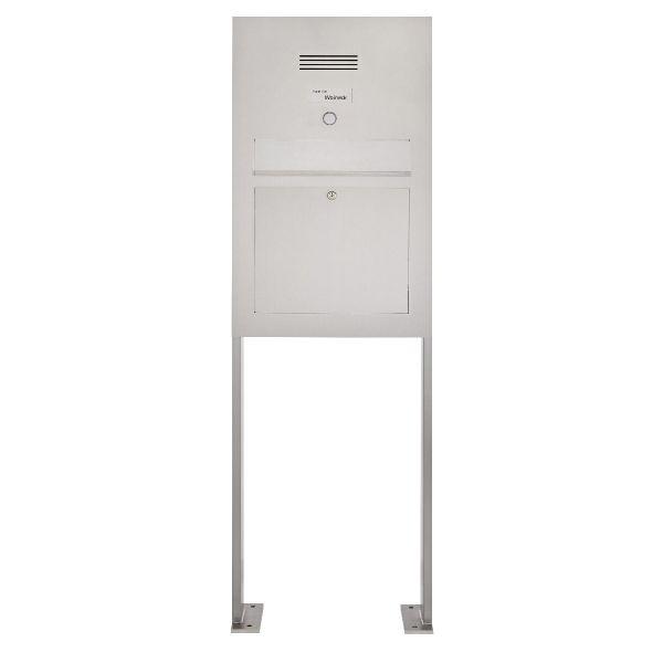 Edelstahl Standbriefkasten Designer Modell BIG ST-P - Clean Edition - INDIVIDUELL