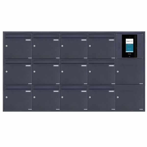 12er 5x3 Edelstahl Unterputzbriefkasten BASIC Plus 382XU UP - RAL - STR Digitale Türstation