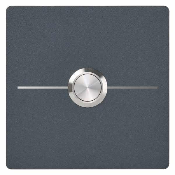 Edelstahl Klingelplatte BASIC 421E1-9090 - Elegance I - pulverbeschichtet - QUADRATISCH
