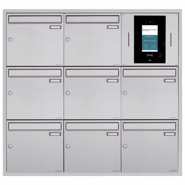 8er 3x3 Unterputzbriefkasten BASIC Plus 382XU UP - Edelstahl geschliffen - STR Digitale Türstation