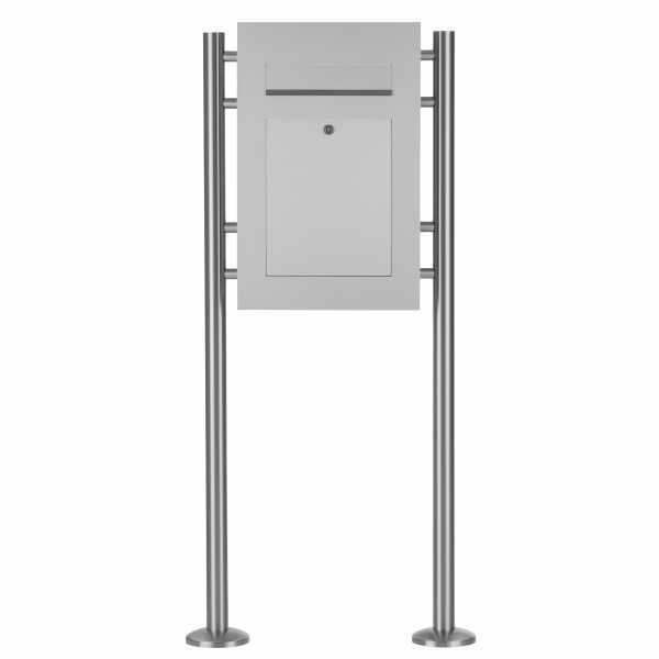 Edelstahl Standbriefkasten DESIGNER Style ST-R