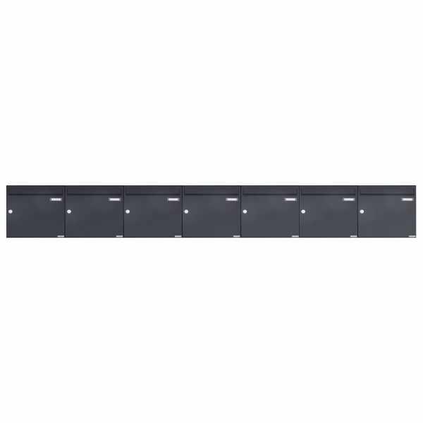 7er 1x7 Aufputz Briefkasten Design BASIC 382A AP - RAL 7016 anthrazitgrau