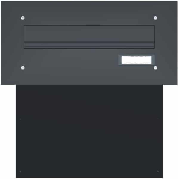 Mauerdurchwurf Briefkasten BASIC 622 pulverbeschichtet - 1 Partei