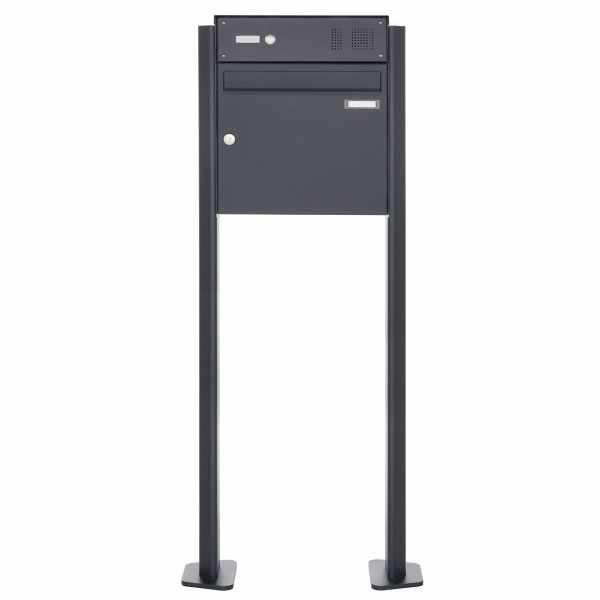 Standbriefkasten Design BASIC Plus 380X ST-T mit Klingelkasten - RAL nach Wahl