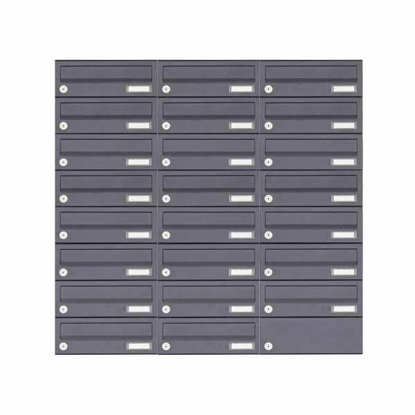 23er 8x3 Aufputz Briefkastenanlage Design BASIC 385A-7016 AP - RAL 7016 anthrazitgrau
