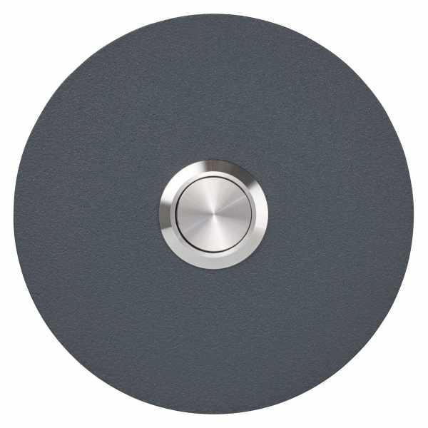 Edelstahl Klingelplatte BASIC 421-80 pulverbeschichtet - RUND