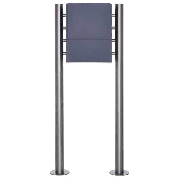 Design Standbriefkasten KANT mit innenliegendem Zeitungsfach - RAL 7016 anthrazitgrau