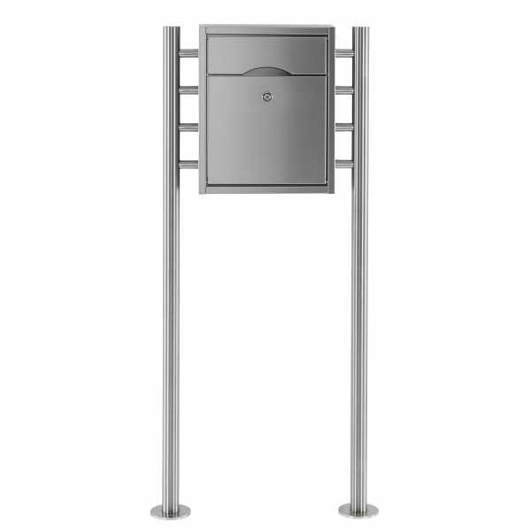 Standbriefkasten PREMIUM SMALL ST-R aus Edelstahl gebürstet