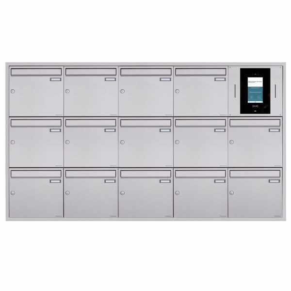 14er 5x3 Unterputzbriefkasten BASIC Plus 382XU UP - Edelstahl geschliffen - STR Digitale Türstation