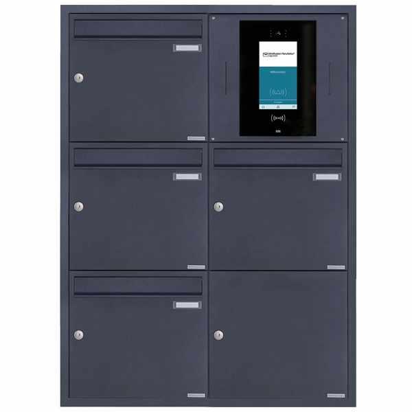 4er 2x3 Edelstahl Unterputzbriefkasten BASIC Plus 382XU UP - RAL nach Wahl - STR Digitale Türstation