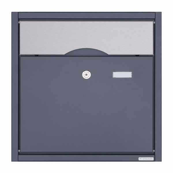 Aufputz Briefkasten PREMIUM BIG AP aus Edelstahl pulverbeschichtet in RAL - Edelstahl Einwurfklappe