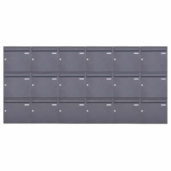 18er 3x6 Aufputz Briefkasten Design BASIC 382A AP - DB703 eisenglimmer