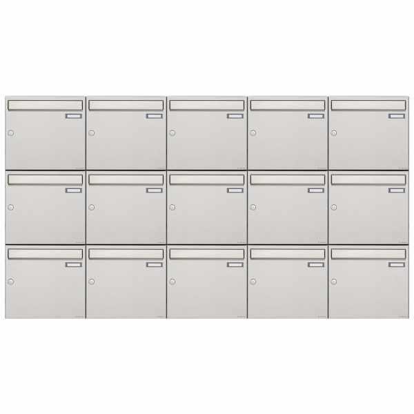 15er 3x5 Edelstahl Aufputz Briefkastenanlage Design BASIC 382A-AP