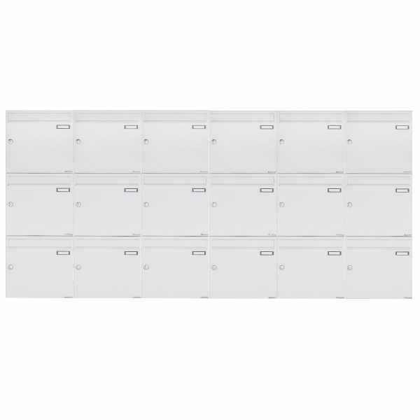 18er 3x6 Aufputz Briefkastenanlage Design BASIC 382A AP - RAL 9016 verkehrsweiß