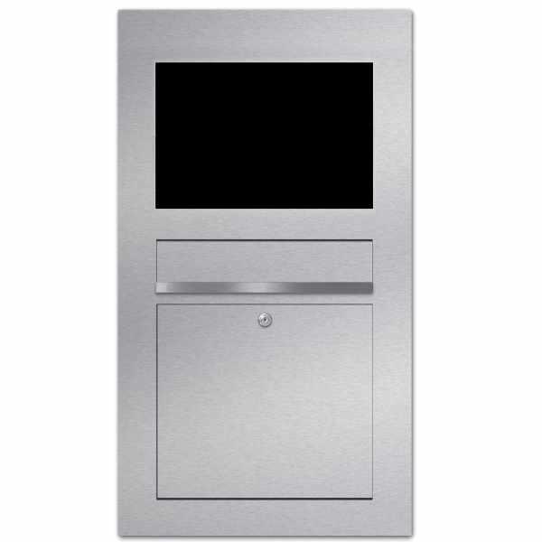 Edelstahl Briefkasten Designer Modell BIG - GIRA System 106 - 6-fach vorbereitet