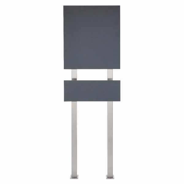 Design Standbriefkasten SCHILLER MEDIUM VAR - Edelstahl V2A pulverbeschichtet