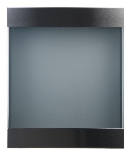 Briefkasten KEILBACH glasnost glass 360 aus gebürstetem Edelstahl