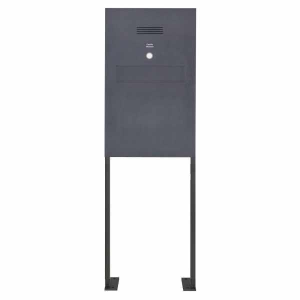 Edelstahl Zaunbriefkasten freistehend Designer BIG ST-P - Clean Edition - RAL Farbe - INDIVIDUELL