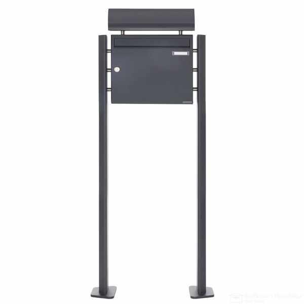 Standbriefkasten Design BASIC 380 ST-T mit Zeitungsfach - RAL 7016 anthrazitgrau