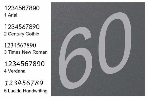Hausnummer als Lasergravur in Kontrastfarbe