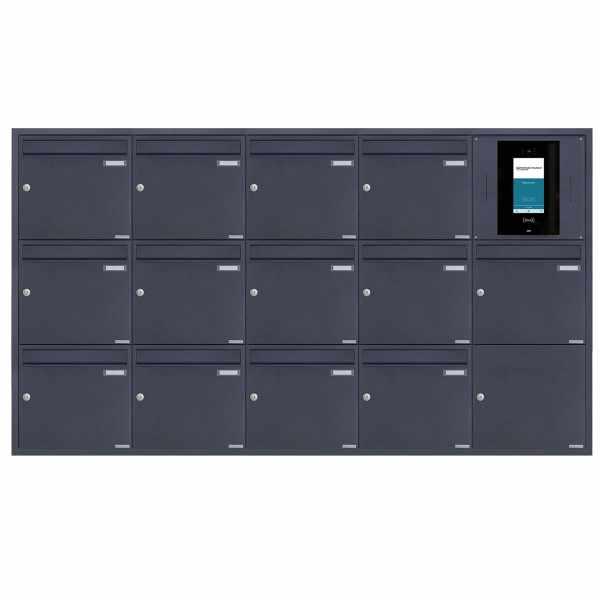 13er 5x3 Edelstahl Unterputzbriefkasten BASIC Plus 382XU UP - RAL - STR Digitale Türstation