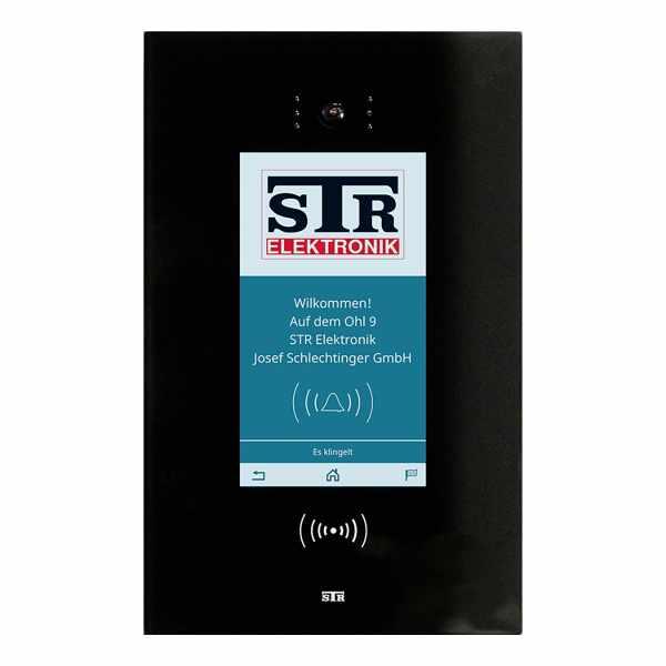 STR Qwiksmart Touch 7 Digitale Türstation - Komplettset zur Unterputzmontage