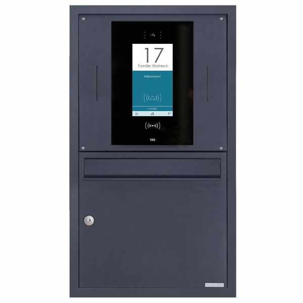 Edelstahl Unterputzbriefkasten BASIC Plus 382XU UP - RAL - STR Digitale Türstation - Komplettset