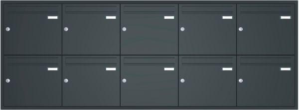 Unterputz Briefkastenanlage BASIC 534 UP pulverbeschichtet - 10 Parteien