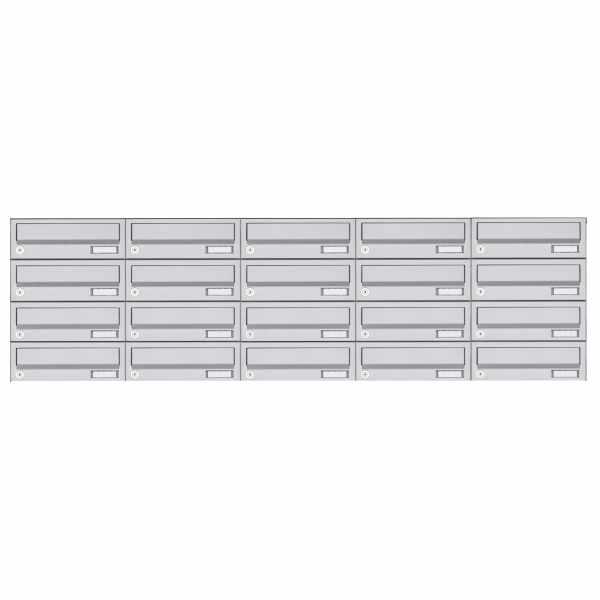 20er 4x5 Edelstahl Aufputz Briefkastenanlage Design BASIC 385A AP
