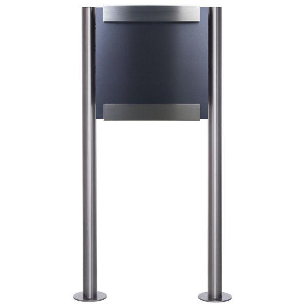 Design Standriefkasten KEILBACH glasnost metal ST-R aus Edelstahl - Frontblende RAL nach Wahl