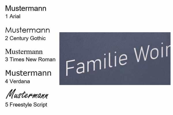 Namensbeschriftung als Lasergravur
