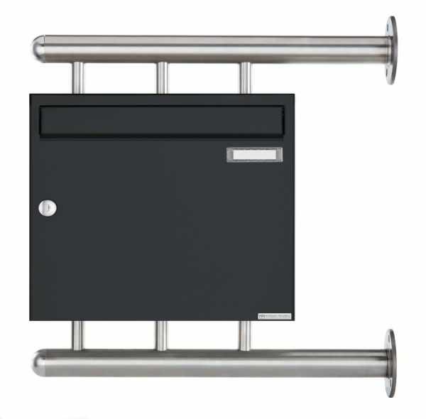 Briefkasten BASIC 810 W zur seitlichen Wandmontage - RAL 7016 Anthrazitgrau