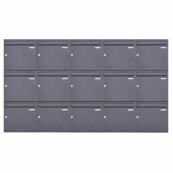 15er 3x5 Aufputz Briefkasten Design BASIC 382A AP - DB703 eisenglimmer
